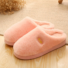 RST couple cotton Slippers female winter home half pack with thickened warm home man Slippers Flats