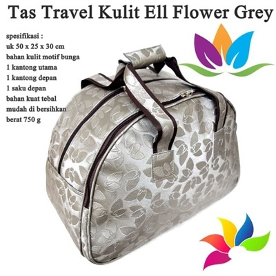 Tas Travel Kulit Ell Flower