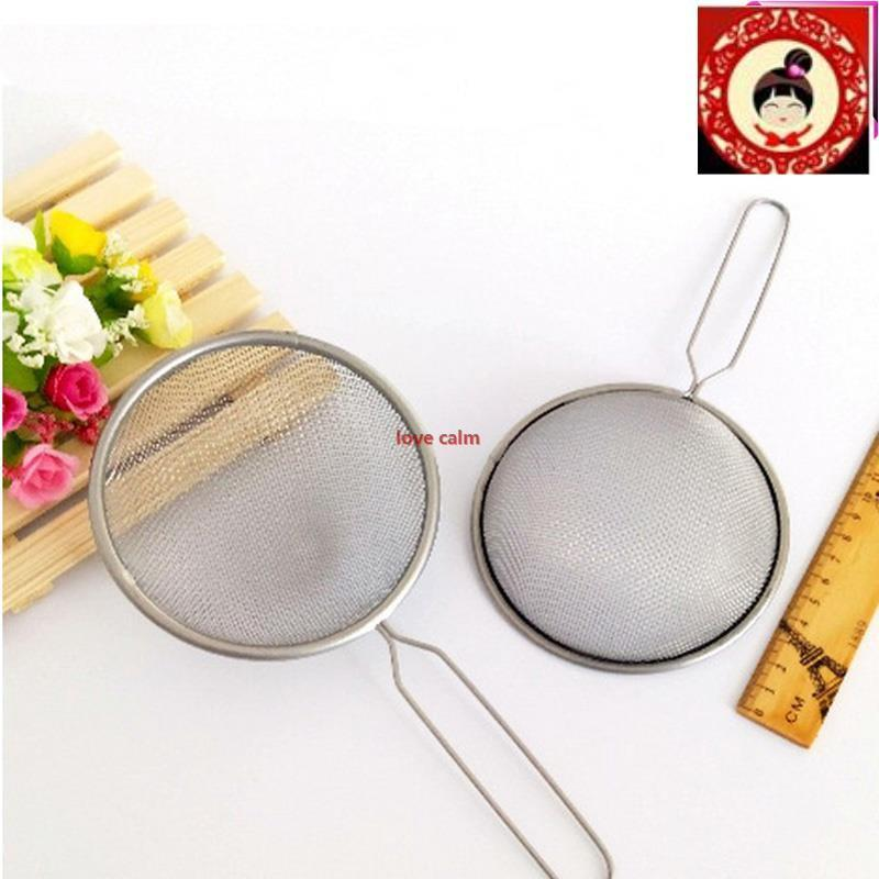 2 x STAINLESS STEEL STRAINER WIRE MESH CLASSIC TRADITIONAL SIEVE SET