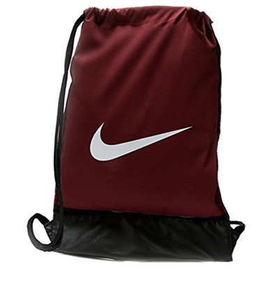26cefc9e9926 NIKE Brasilia 8 Gymsack Backpack Drawstring Bag Gear Tote Burgundy White  Signature White Swoosh Logo