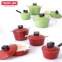 Neoflam Cube ceramic Pot 4Set / cooking Frying pan Wok Korea cookware