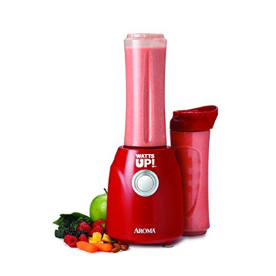 Aroma Housewares ABD 100 2R Watts Up Single Serve Personal Blender With 2 Bottles
