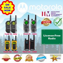 Motorola Walkie Talkie T6 T8 T80 T82 (8-10KM) Genuine * IDA approved *