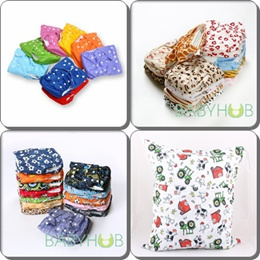 Quality 1 Size Cloth Nappy Diaper and Insert [Microfleece or Bamboo] Wetbag