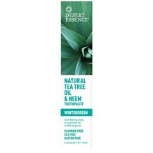 Desert Essence Natural Tea Tree Oil & Neem Toothpaste Wintergreen 6.25 oz (176 g)