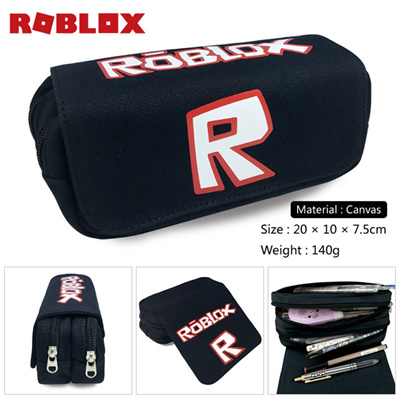 Roblox R Game Anime Boys Girls Wallet Canvas Pencil Case School Supplies  Bags Student Gift Make up B