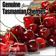 Air-flown Genuine Tasmanian Cherries (26mm - 28mm) in 500g and 1kg Punnet