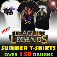 New! League Of Legends Summer T-Shirts!Over 150 Designs 95% Cotton T-Shirts for Sports / Casual Wear