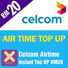 Celcom Airtime instant Top UP RM20 [Each mobile number can only top up once per day after 24 Hours]