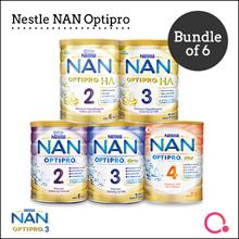 [NESTLÉ NAN] Nan Optipro/HA/Kid hypoallergenic formulated milk  | Bundle of 6 (Use Qoo10 Coupon)