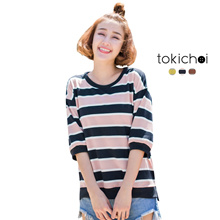 TOKICHOI - Bold Striped Top-180384