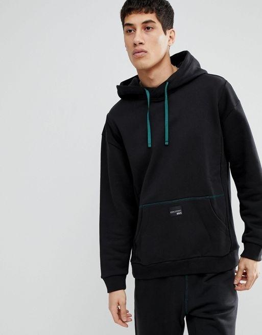 big sale 217f0 26fa7 adidas Originals EQT Pullover Oversized Hoodie In Black CD6856
