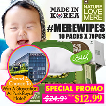 HOTEL LUCKY DRAW ★ KOREA NEW Antibacterial Wet Wipes ★ Natural Eco-Friendly Moist Premium Baby Wipes