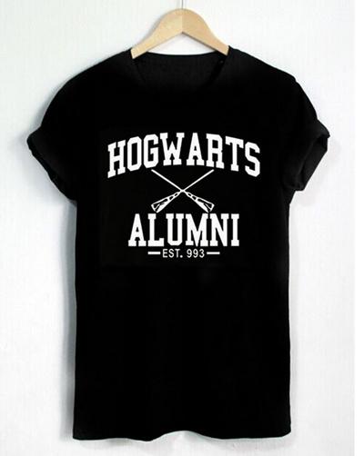 4165ffaa COUPON; Harry Potter Shirt Hogwarts Alumni Letters Print Women T Shirt  Casual Cotton Funny Shirt for Lady
