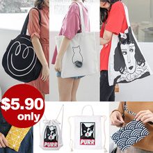 [8 July NEW] Pouch ★ Sling Pouch ★ Canvas Tote Bags ★ Drawstring ★ Backpacks ★ Reversible Bags