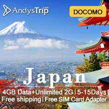 DOCOMO【Japan Prepaid Sim Card】 4GLTE Unlimited Data up to 15 days+Support Data sharing