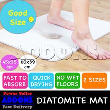 【BUY 2 = $4 OFF】 Japan Diatomite Mat / Fast Absorbent Antibacterial / Bath floor Mat Anti-Skid