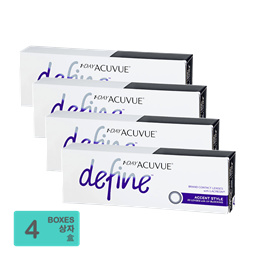 [Free Shipping] Johnson and Johnson 1-Day Acuvue Define Accent Style (30pcs/box) x4