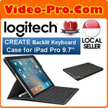 [$10 Off] Logitech Create Backlit Keyboard Case for iPad Pro 9.7 Inch w/Apple Pencil holder Black