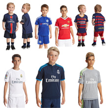 17-18 Kids Soccer Uniform Barcelona Real Madrid Manchester United Youth Children Football Kits