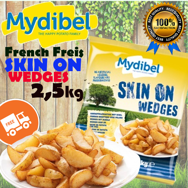 **Mydibel French Freis Skin On Wedges 2.5kg Deals for only Rp82.900 instead of Rp82.900