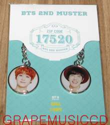 BANGTAN BOYS BTS 2ND MUSTER OFFICIAL GOODS MD FACE KEY RING B SET SUGA + J-HOPE