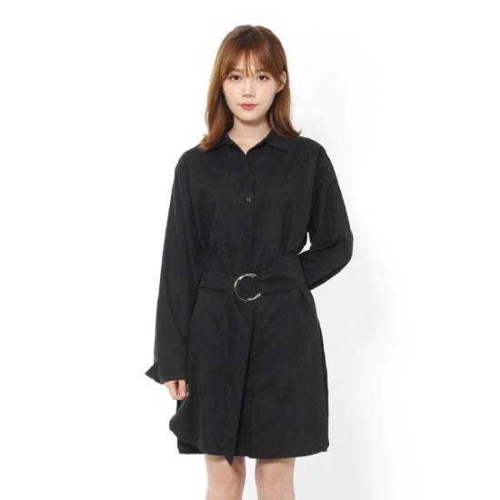 ルシャプLeShopOリングベルトロングシャツ、ワンピース、LH9OP604 面ワンピース/ 韓国ファッション