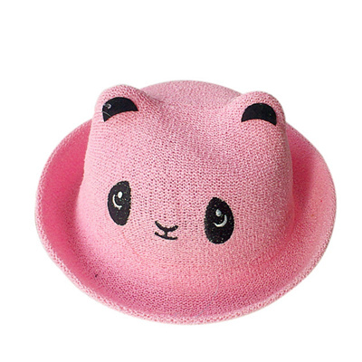 17881750bf9 outlet Fashion Ears Straw Hats Baby Hats For Girls Bucket Hat Boys Cap  Children Sun Summer