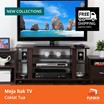 [FREE SHIPPING JABODETABEK] FUNIKA CLTV 1000C – Meja Rak TV – Coklat Tua