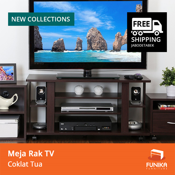 [FREE SHIPPING JABODETABEK] FUNIKA CLTV 1000C – Meja Rak TV – Coklat Tua Deals for only Rp412.000 instead of Rp412.000
