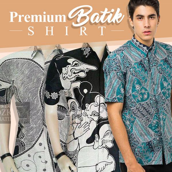 Mens Hem Batik Short Sleeve Shirt Deals for only Rp73.900 instead of Rp73.900