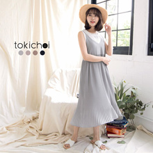 TOKICHOI - Pleated Slip Dress-180653