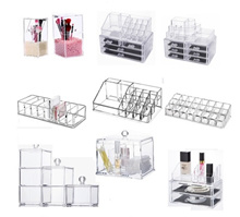 Acrylic Clear Transparent Makeup Brush Holder Organizer with Cover