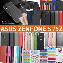 2018 Asus Case 3D Full Screen Protector Leather case cover for Asus Zenfone 5 ZE620KL ZC600 KL Case
