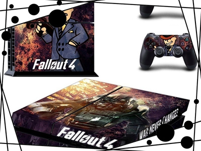 Fallout 4 Designer PS4 Console and DualShock 4 Controller Skin Set For  PlayStation 4 Vinyl Sticker D