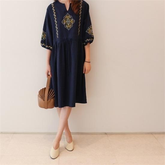 ココジェン行き来するようにココジェンルーチェ自首ワンピース シフォン/レースのワンピース/ 韓国ファッション