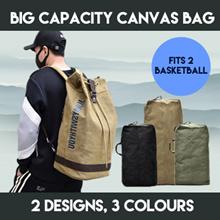 *NEW*Mens Canvas Backpack Big Capacity Premium Camping Bag Can Fit 2 Baskeball Short Trip Travel Bag