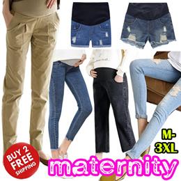 414850552ef Maternity Wear Pants  Leggings Pregnancy Women Denim Shorts Bottom Long  Working Pants