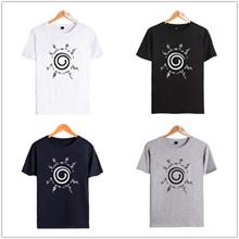 Naruto Curse Seal Logo O-Neck Men s T-shirt Anime Peripheral Series Naruto Naruto Uzumaki Naruto Per