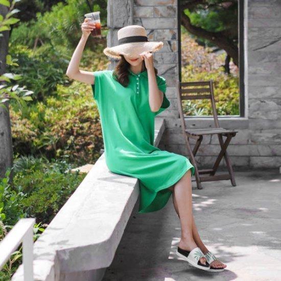 ジャストウォンスクエア自首ワンピース 綿ワンピース/ 韓国ファッション