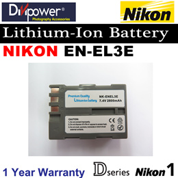 Nikon EN-EL3E ENEL3e ENEL 3 Lithium-ion Battery for D Series Nikon 1 Camera by Divipower