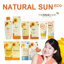★ NATURAL SUN ★ Body and Family Mild Sun Milk Oil Cut Sun Cream Power Long-Lasting Sun Cream Aqua Sun Gel Baby Mild Sun Lotion The Face Shop TheFaceShop faceshop