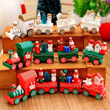 Xmas Christmas Train Santa Claus toy Festival Ornament Home Children Kids Toys Gifts