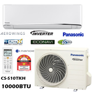 Panasonic CS-S10TKH and CU-S10TKH 1.0hp Premium Inverter + Econavi + Nanoe-G Air Conditioner