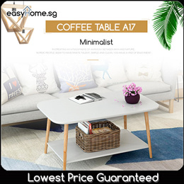 Minimalist Stylist Coffee Table A17 (Round or Rectangle Design Available)