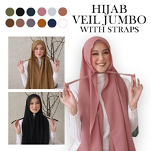 Best New Modern Simple Hijab Veil Jumbo With Straps_Moslem Outfit Fashion