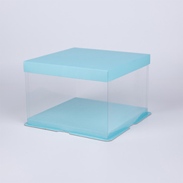 Transparent birthday Cake Box 4 6 8 10 12 14 inch double-layer elevated cake packaging box custom fr