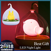 Smart Home Illumination Cute Spiderwick Totoro Portable Touch Sensor USB LED Baby Kids Bedside Lamp