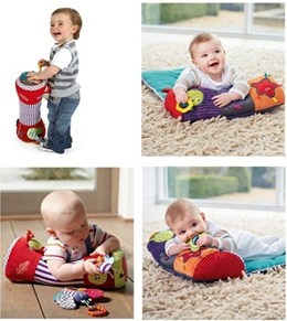 Mamas Papas Baby play Tummy Time Baby Activity Toy Bolster Pillow playmat mat