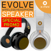 *NEW HYBRID HEADPHONE* - X-mini™ EVOLVE Wireless Headphone Speaker/ ESCAPE Headphone
